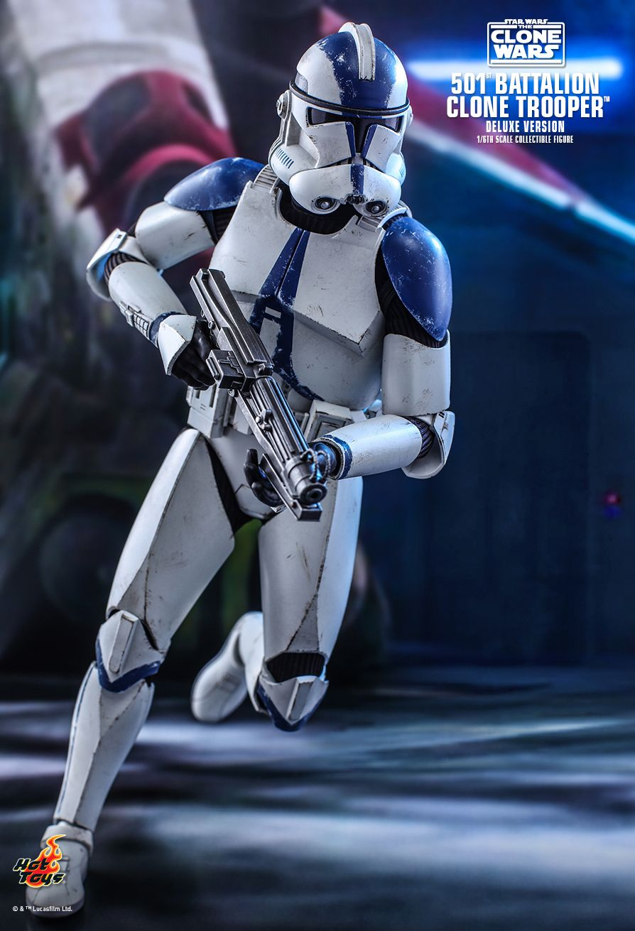 hottoys - NEW PRODUCT: HOT TOYS: STAR WARS: THE CLONE WARS™ 501ST BATTALION CLONE TROOPER™ (DELUXE VERSION) 1/6TH SCALE COLLECTIBLE FIGURE 8329