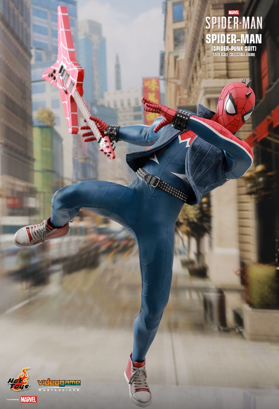 Spider-Punk - NEW PRODUCT: Hot Toys: MARVEL'S SPIDER-MAN SPIDER-MAN (SPIDER-PUNK SUIT) 1/6TH SCALE COLLECTIBLE FIGURE 834