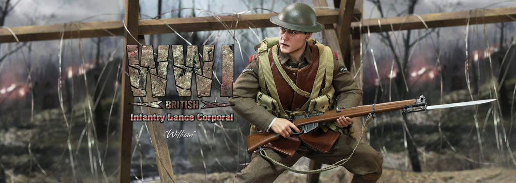 military - NEW PRODUCT: DiD: B11011 WWI British Infantry Lance Corporal William & Trench Diorama Set (UPDATED INFORMATION) 838c4710