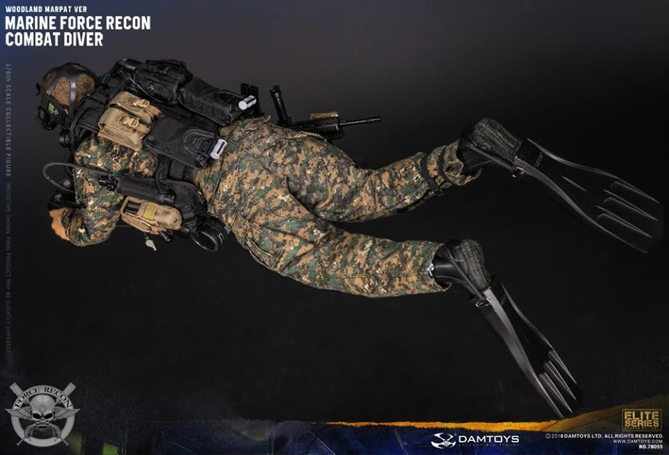 DamToys - NEW PRODUCT: DAM Toys: Marine Force Recon Combat Diver (Desert MARPAT) (GIDAM-78056) & (Woodland MARPAT) (GIDAM-78055) 846