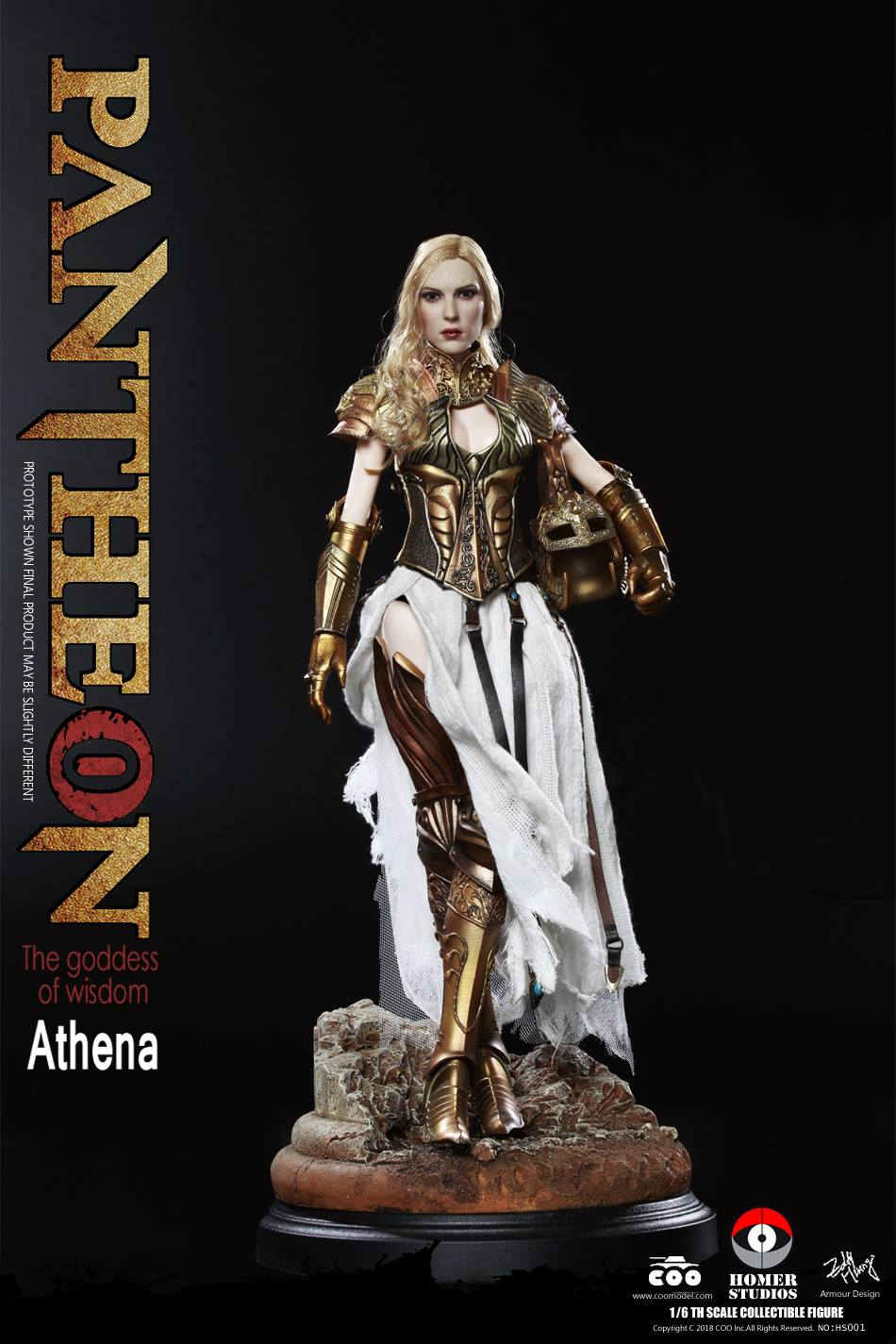 "NEW PRODUCT: COO MODEL X HOMER 1/6th scale PANTHEON Athena Goddess of War 12"" Collectible Figure 861"