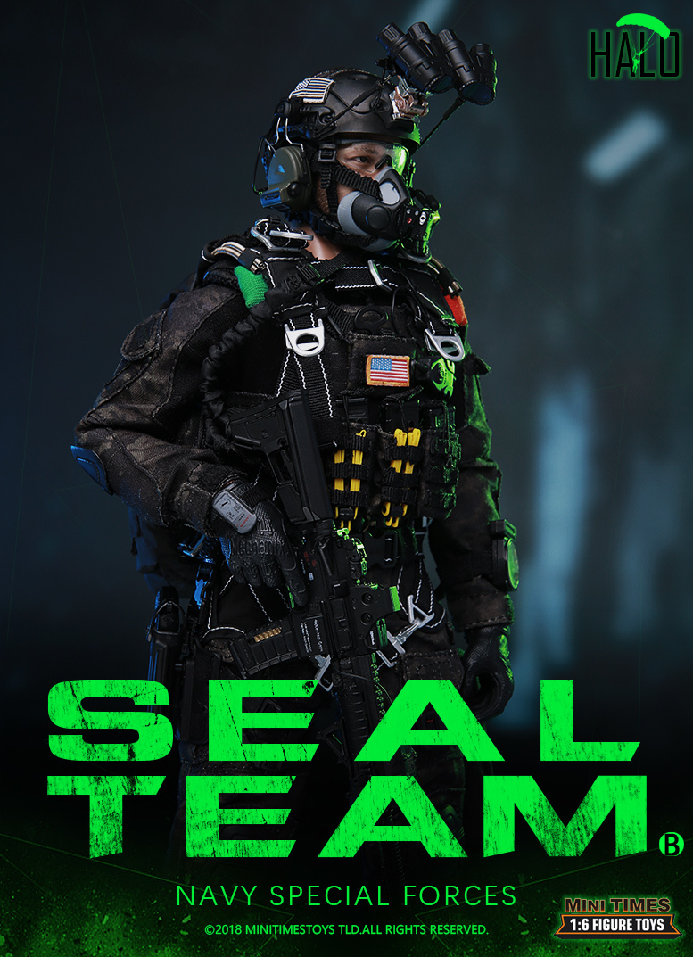 "Dog - NEW PRODUCT: MINI TIMES TOYS US NAVY SEAL TEAM SPECIAL FORCES ""HALO"" 1/6 SCALE ACTION FIGURE MT-M013 882"