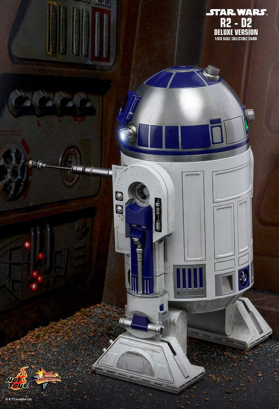 NEW PRODUCT: HOT TOYS: STAR WARS R2-D2 DELUXE VERSION 1/6TH SCALE COLLECTIBLE FIGURE 884