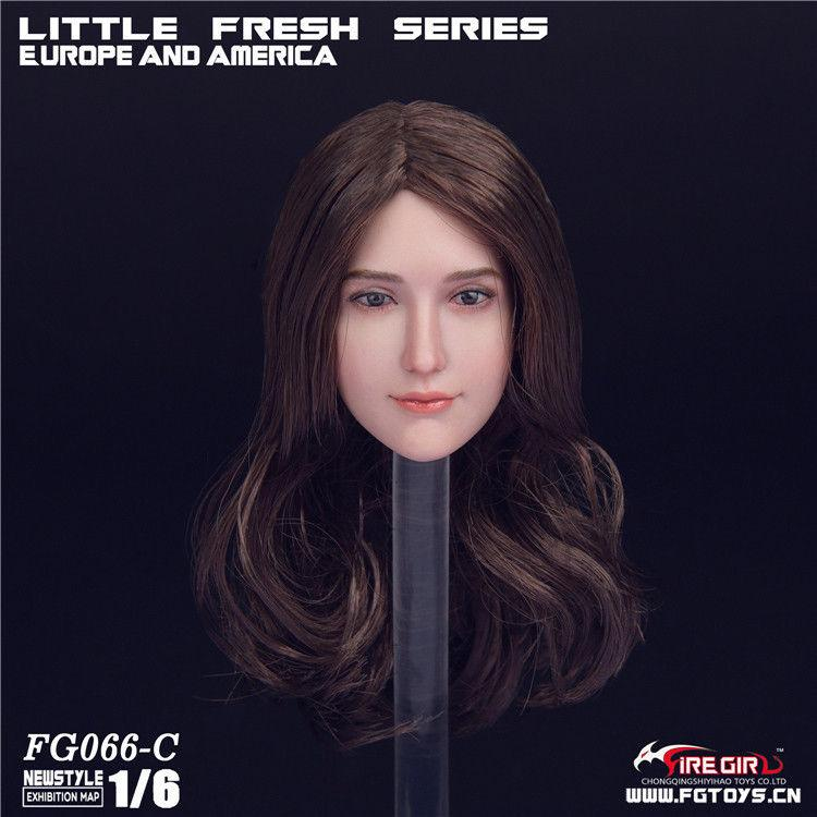 NEW PRODUCT: 1/6 Scale Fire Girl Toys FG066 Sweetheart Female Head Sculpt H#pale (3 versions) 889