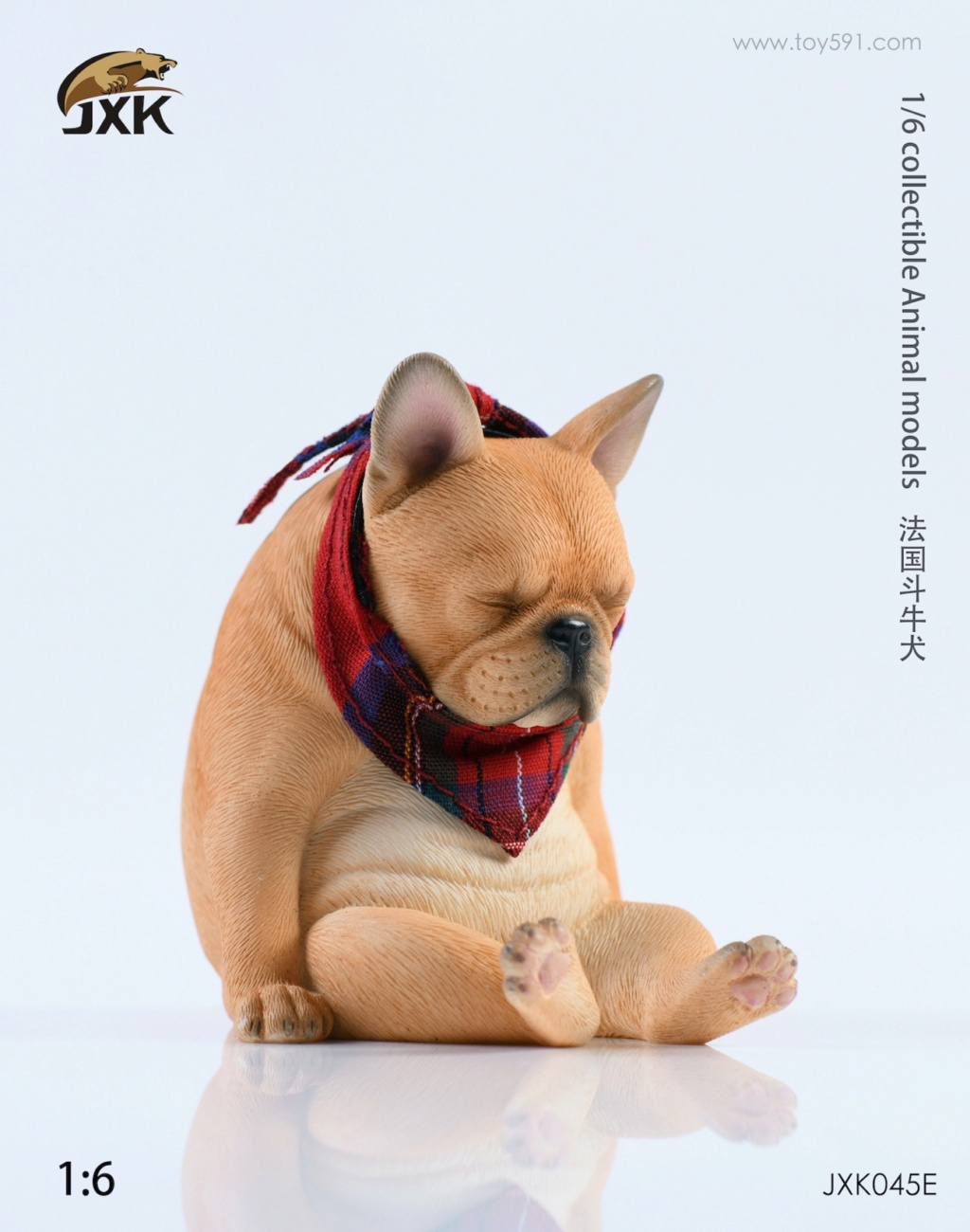 Dog - NEW PRODUCT: JXK 1/6 Decadent Dog JXK045 French Bulldog + Scarf 8e8eb010
