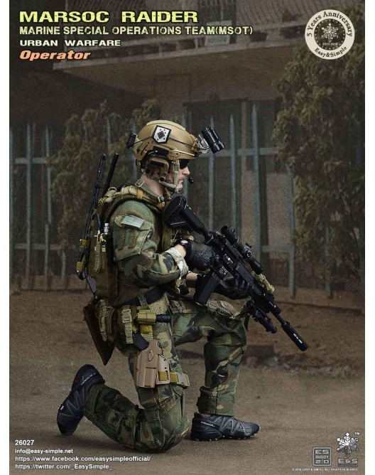 NEW PRODUCT: Easy & Simple 26027 1/6 Scale MARSOC Raider Urban Warfare Operator 9-528x10
