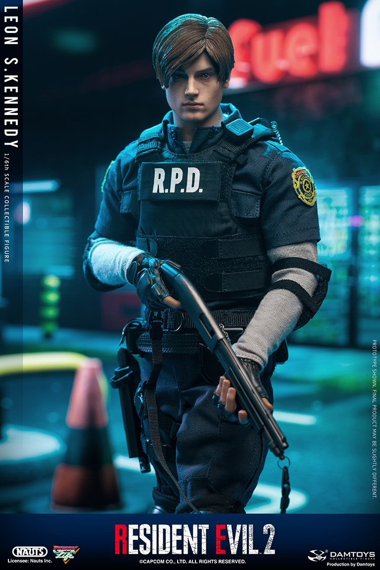 "Sci-Fi - NEW PRODUCT: NAUTS & DAMTOYS: 1/6 ""Resident Evil 2""-LEON S.KENNEDY/Lyon S. Kennedy remake #DMS030  90631b10"