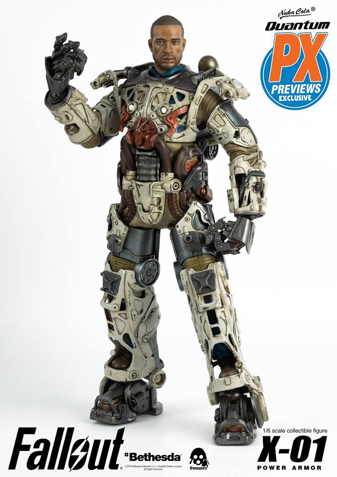 "Fallout - NEW PRODUCT: Three Zero Exclusive 1/6th scale X-01 ""Quantum"" Power Armor 14.5-inch Figure Set 9110"