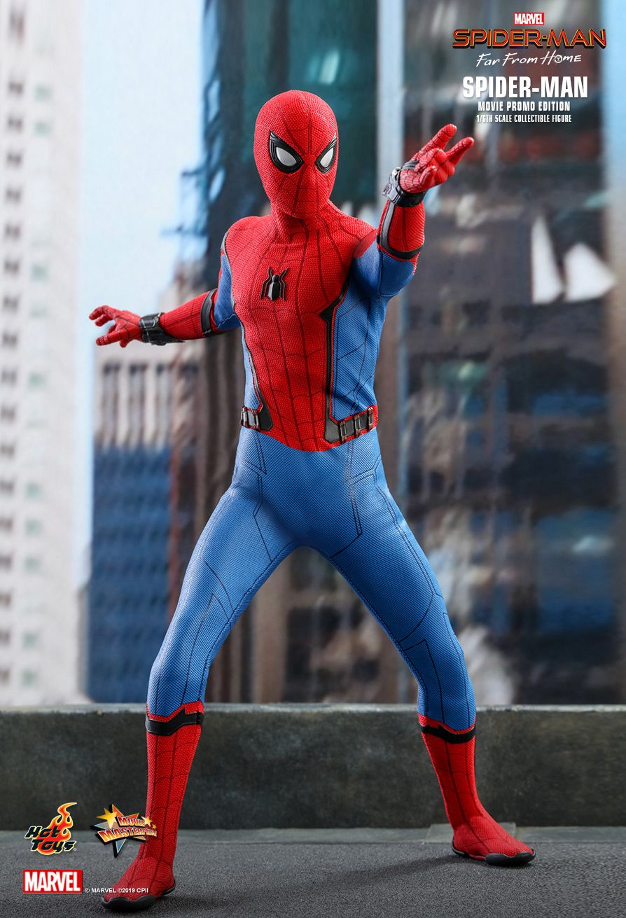 marvel - NEW PRODUCT: HOT TOYS: SPIDER-MAN: FAR FROM HOME SPIDER-MAN (MOVIE PROMO EDITION) 1/6TH SCALE COLLECTIBLE FIGURE 9176