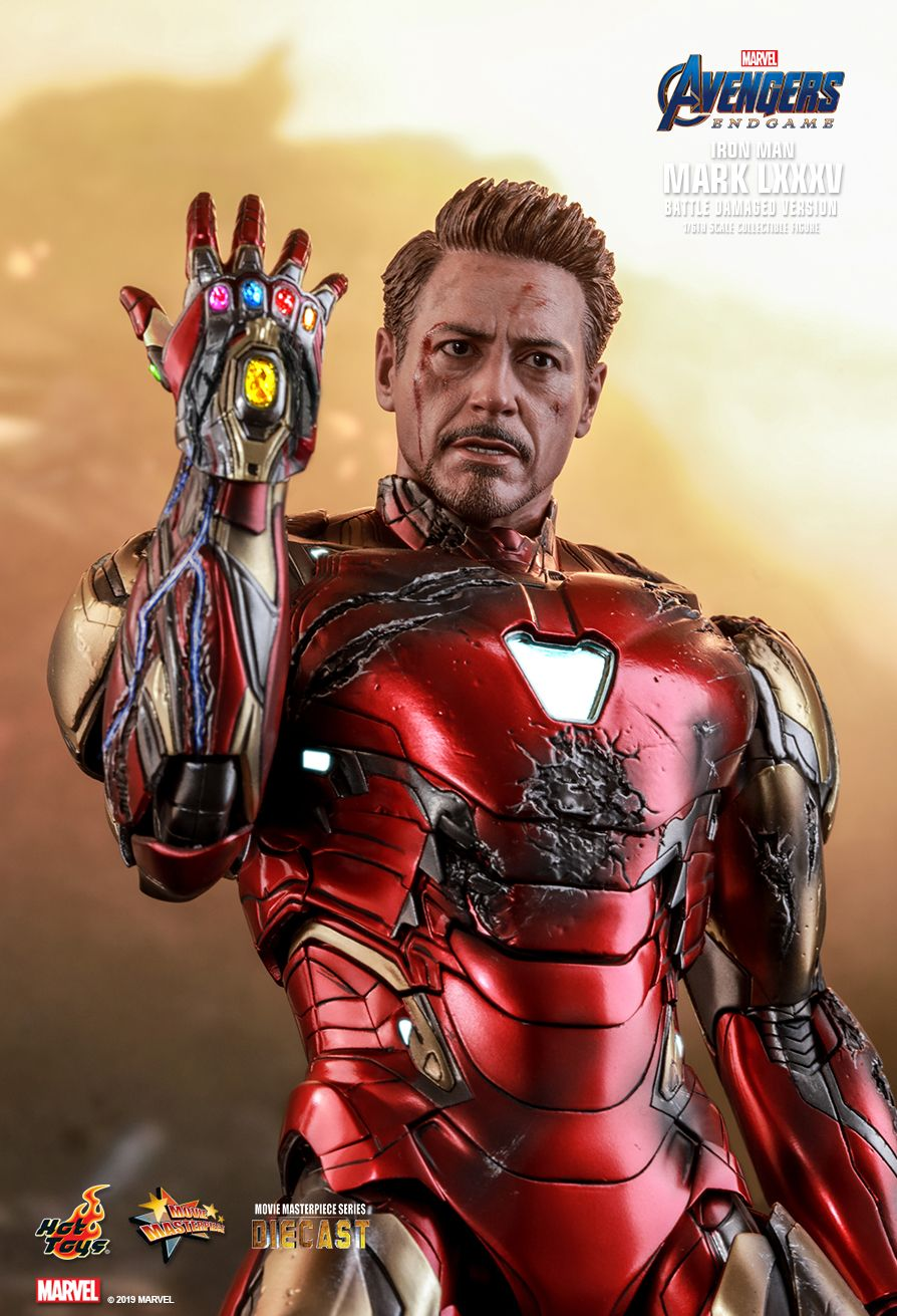 marvel - NEW PRODUCT: HOT TOYS: AVENGERS: ENDGAME IRON MAN MARK LXXXV (BATTLE DAMAGED VERSION) 1/6TH SCALE COLLECTIBLE FIGURE 9196