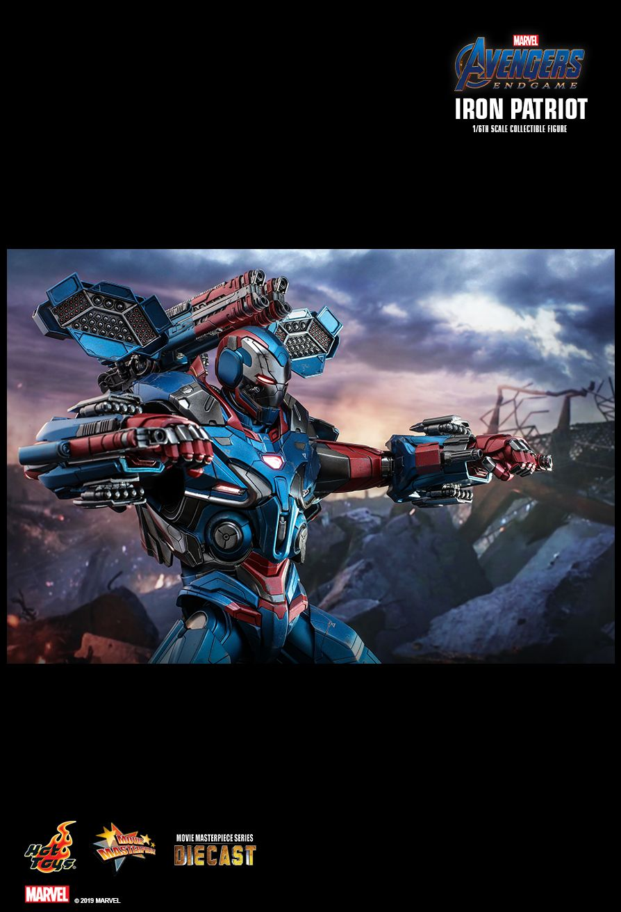 Endgame - NEW PRODUCT: HOT TOYS: AVENGERS: ENDGAME IRON PATRIOT 1/6TH SCALE COLLECTIBLE FIGURE 9198