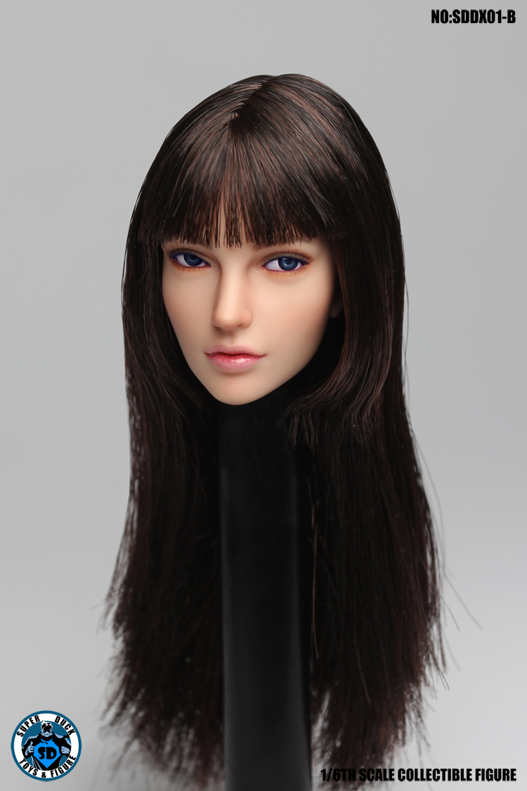 superduck - NEW PRODUCT: SUPER DUCK New product: 1/6 SDDX01 & SDDX02 movable eye female head carving - ABC three models (each) 925