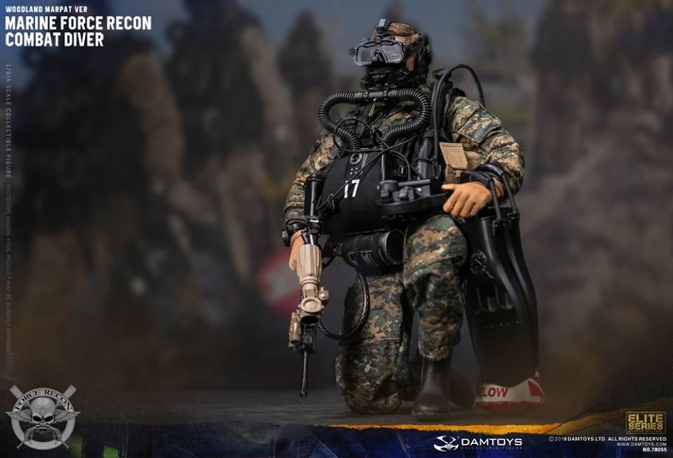 DamToys - NEW PRODUCT: DAM Toys: Marine Force Recon Combat Diver (Desert MARPAT) (GIDAM-78056) & (Woodland MARPAT) (GIDAM-78055) 945