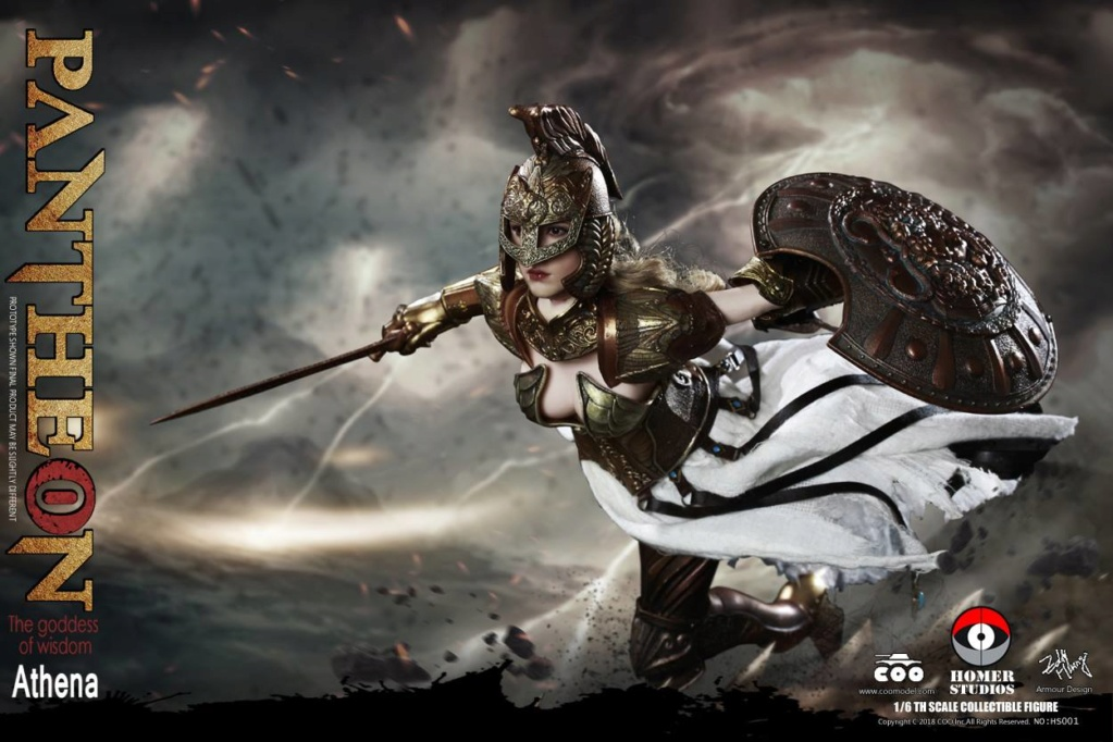 "NEW PRODUCT: COO MODEL X HOMER 1/6th scale PANTHEON Athena Goddess of War 12"" Collectible Figure 960"