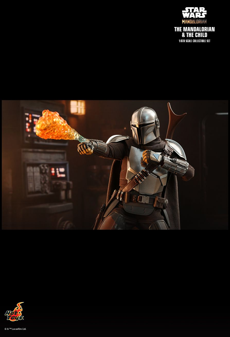 Sci-Fi - NEW PRODUCT: HOT TOYS: THE MANDALORIAN THE MANDALORIAN AND THE CHILD 1/6TH SCALE COLLECTIBLE SET (Standard and Deluxe) 960e0310