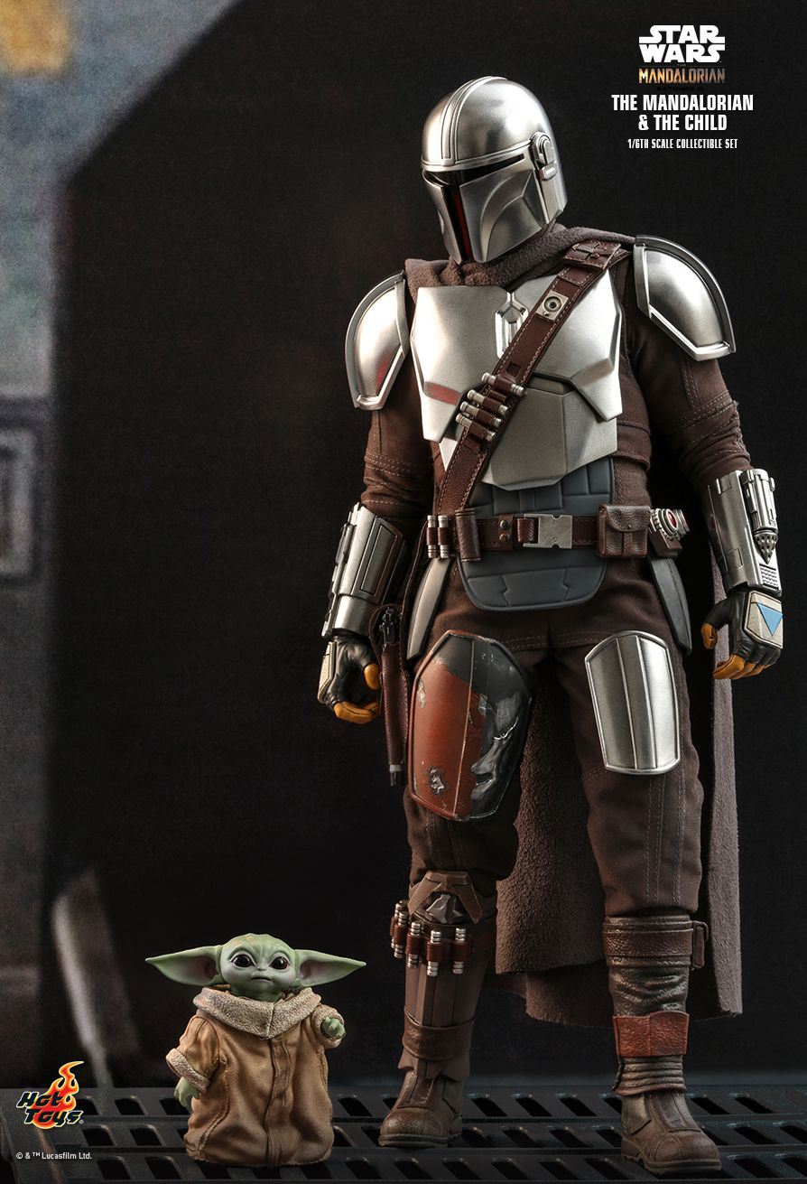Sci-Fi - NEW PRODUCT: HOT TOYS: THE MANDALORIAN THE MANDALORIAN AND THE CHILD 1/6TH SCALE COLLECTIBLE SET (Standard and Deluxe) 9fc31e10