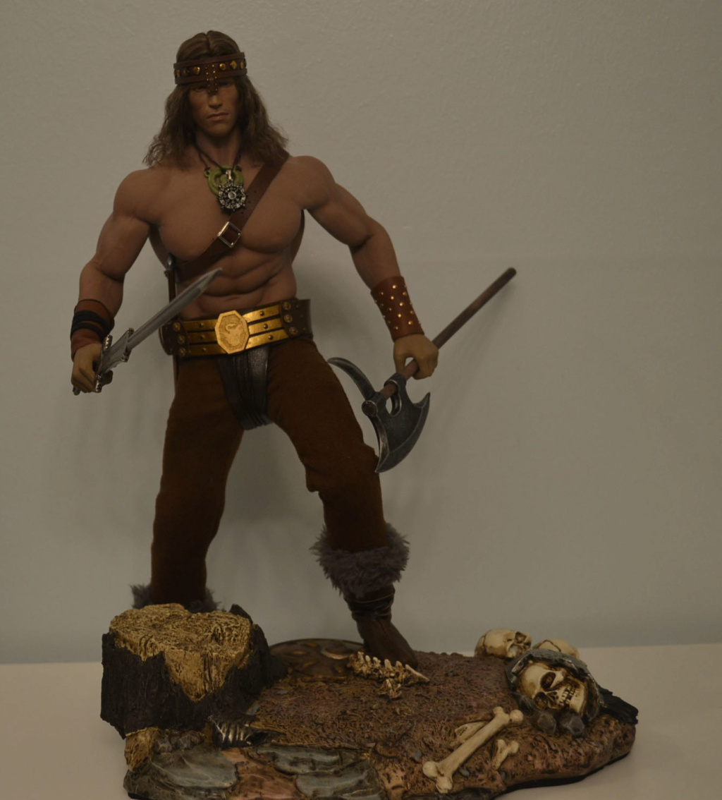 NEW PRODUCT:  Mr. Toys MT2018-02 1/6 Conan head carving costume set _dsc2917