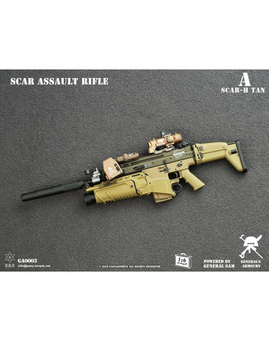 NEW PRODUCT: General's Armoury GA003 1/6 Scale SCAR Assault Rifle in 4 styles A-1-5210