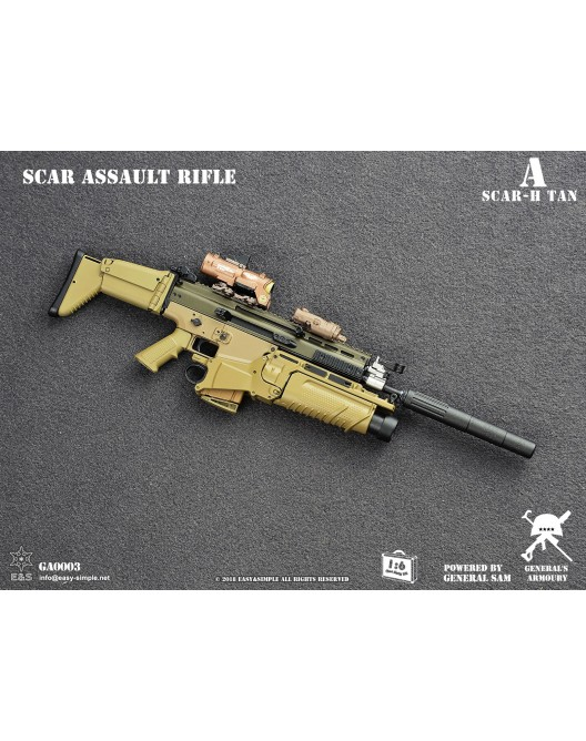 NEW PRODUCT: General's Armoury GA003 1/6 Scale SCAR Assault Rifle in 4 styles A-2-5210