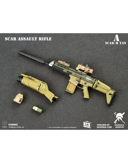 NEW PRODUCT: General's Armoury GA003 1/6 Scale SCAR Assault Rifle in 4 styles A-3-5210