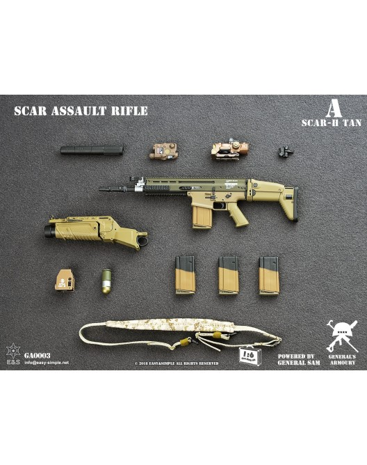 NEW PRODUCT: General's Armoury GA003 1/6 Scale SCAR Assault Rifle in 4 styles A-4-5210
