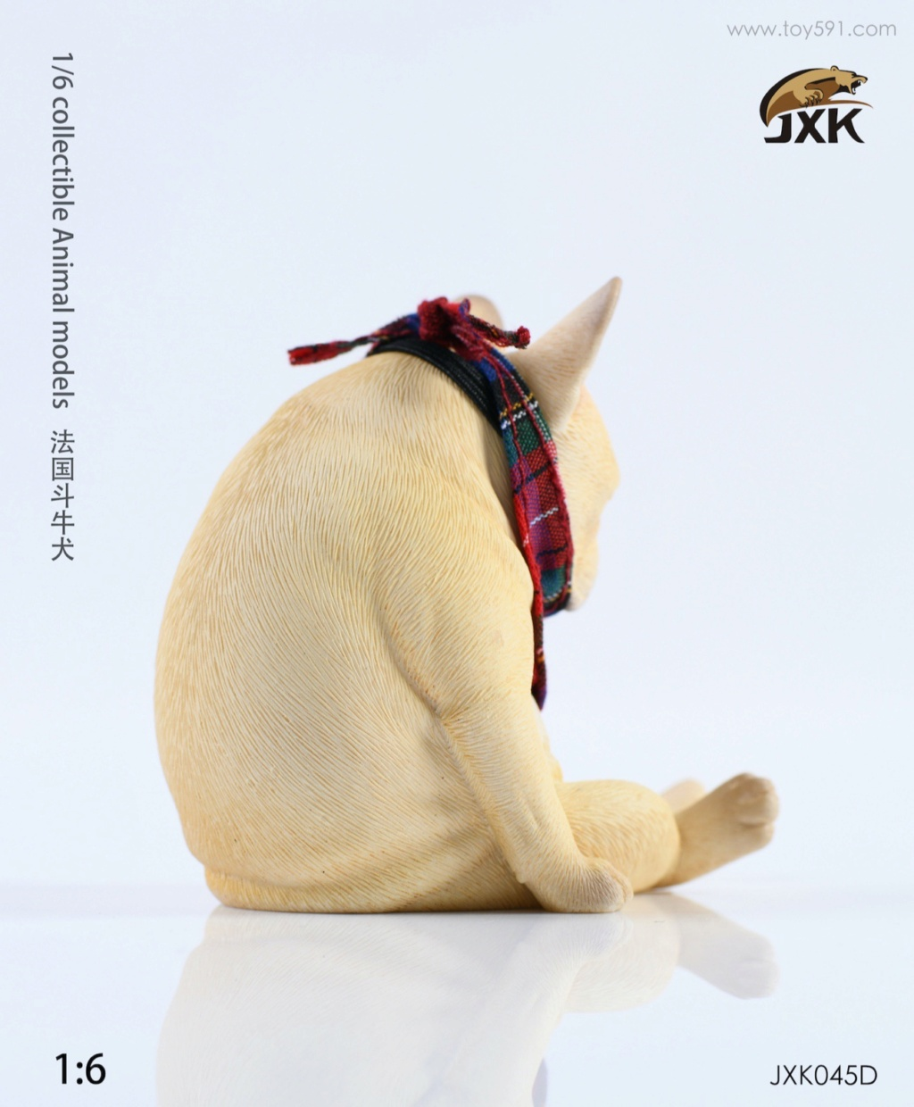 Dog - NEW PRODUCT: JXK 1/6 Decadent Dog JXK045 French Bulldog + Scarf A2911810
