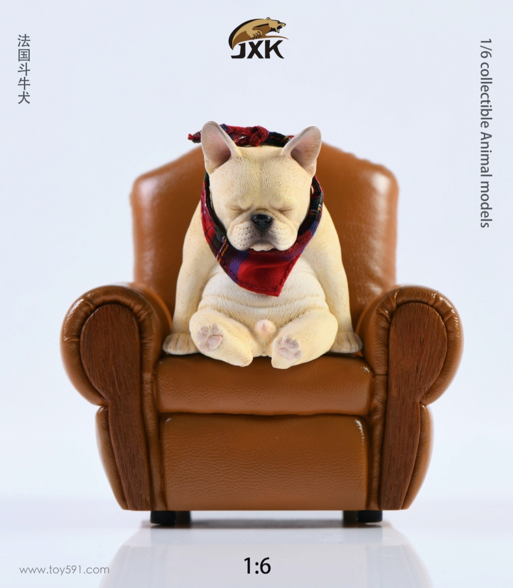 Dog - NEW PRODUCT: JXK 1/6 Decadent Dog JXK045 French Bulldog + Scarf A56b4d10