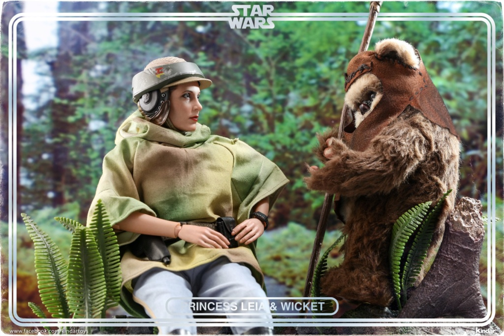 Endor Leia - NEW PRODUCT: HOT TOYS: STAR WARS: RETURN OF THE JEDI PRINCESS LEIA AND WICKET 1/6TH SCALE COLLECTIBLE FIGURES SET A9f34410