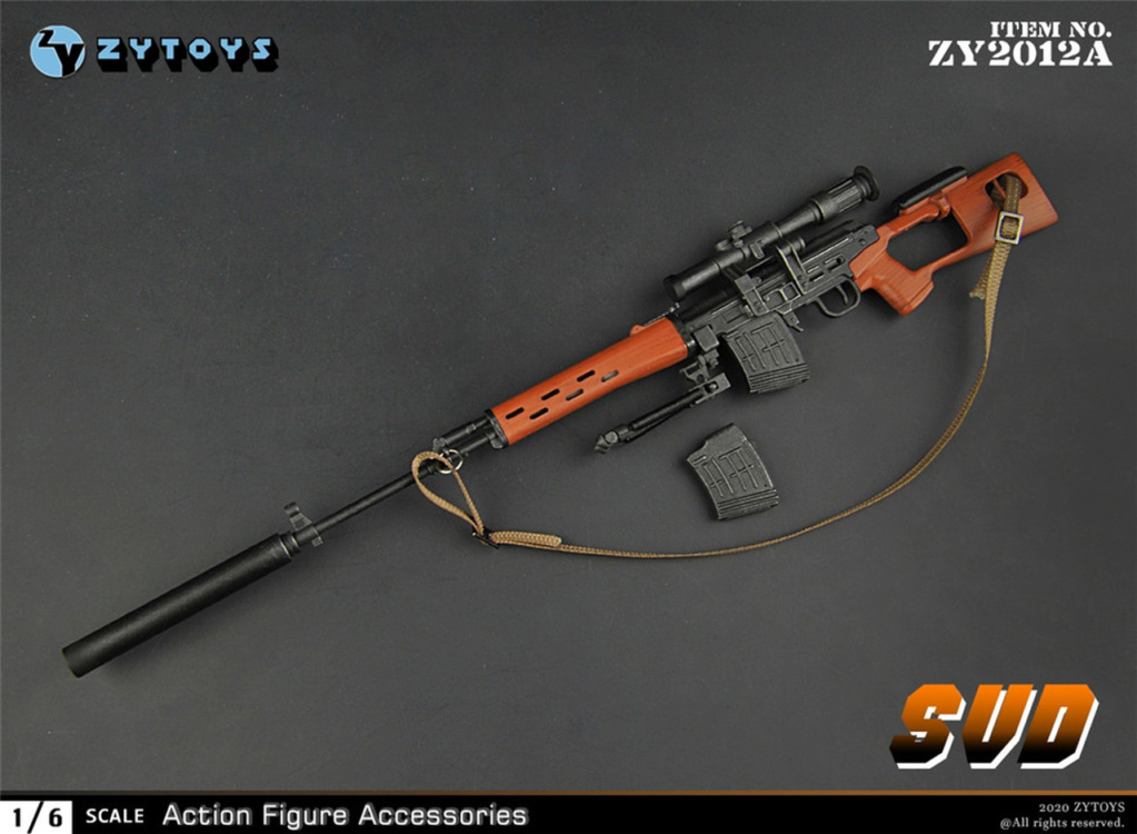 modernmilitary - NEW PRODUCT: ZY Toys: 1/6 SVD Rifle by ZY TOYS (2 color options) A_001_10