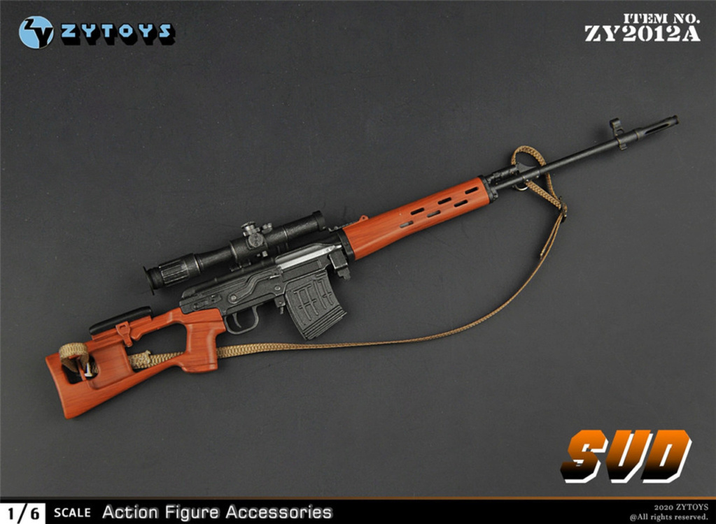 modernmilitary - NEW PRODUCT: ZY Toys: 1/6 SVD Rifle by ZY TOYS (2 color options) A_003_10