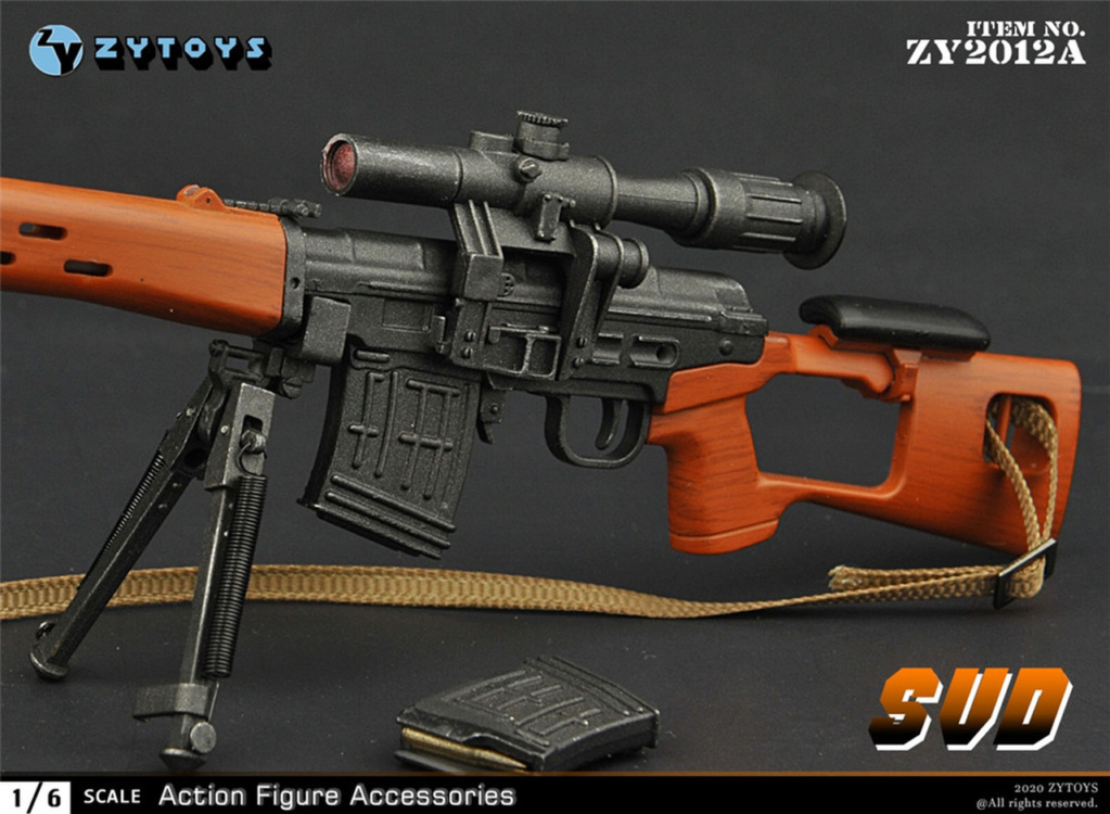 modernmilitary - NEW PRODUCT: ZY Toys: 1/6 SVD Rifle by ZY TOYS (2 color options) A_009_10