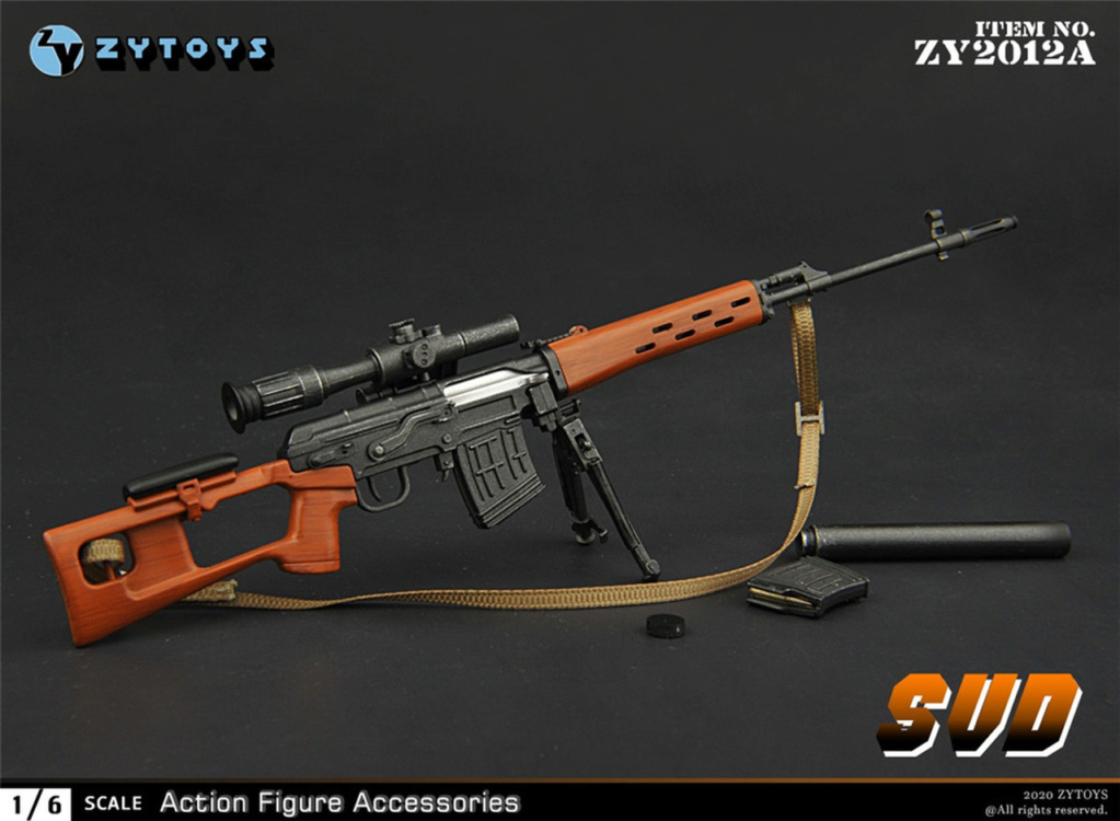 modernmilitary - NEW PRODUCT: ZY Toys: 1/6 SVD Rifle by ZY TOYS (2 color options) A_010_10