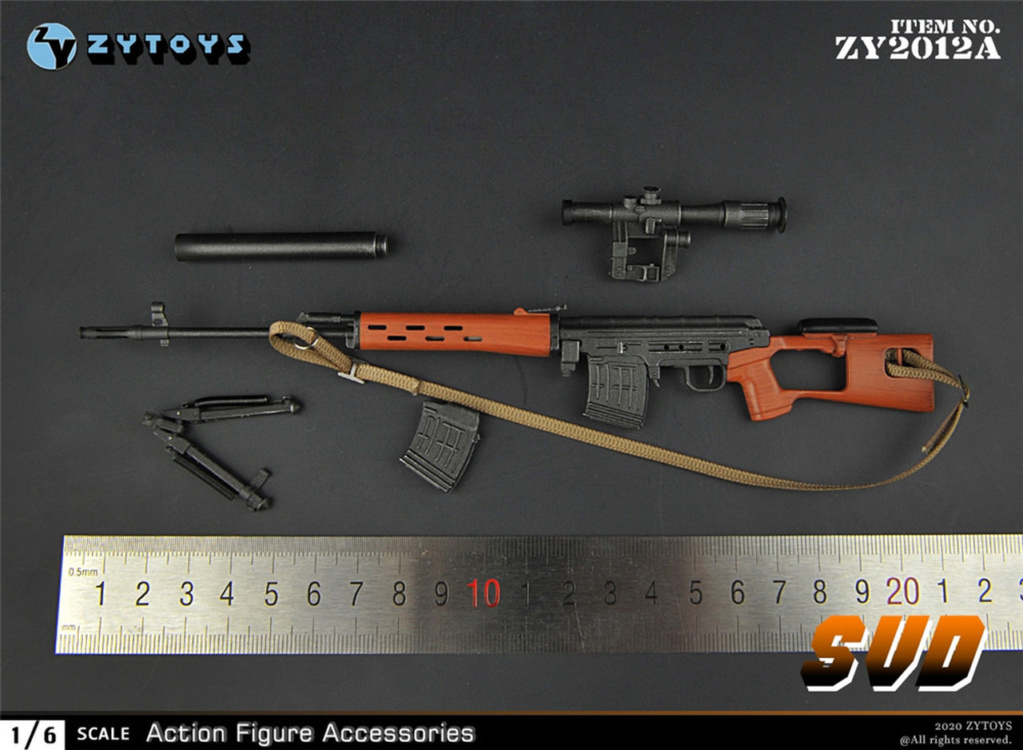 modernmilitary - NEW PRODUCT: ZY Toys: 1/6 SVD Rifle by ZY TOYS (2 color options) A_011_10