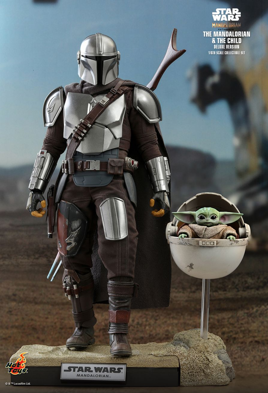 Sci-Fi - NEW PRODUCT: HOT TOYS: THE MANDALORIAN THE MANDALORIAN AND THE CHILD 1/6TH SCALE COLLECTIBLE SET (Standard and Deluxe) Aade6a10