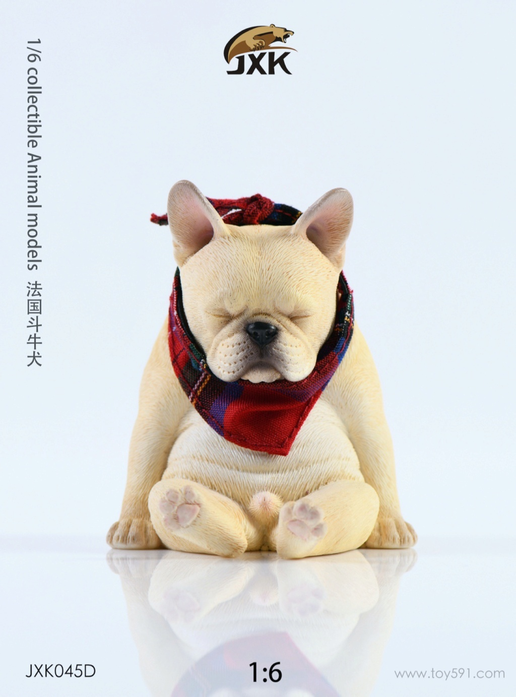 Dog - NEW PRODUCT: JXK 1/6 Decadent Dog JXK045 French Bulldog + Scarf Ab2a4310