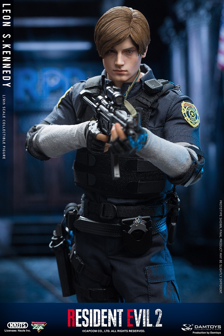 "Sci-Fi - NEW PRODUCT: NAUTS & DAMTOYS: 1/6 ""Resident Evil 2""-LEON S.KENNEDY/Lyon S. Kennedy remake #DMS030  Ae5e0610"