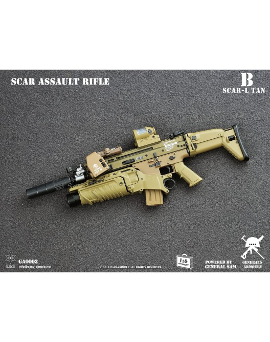 NEW PRODUCT: General's Armoury GA003 1/6 Scale SCAR Assault Rifle in 4 styles B-1-5211