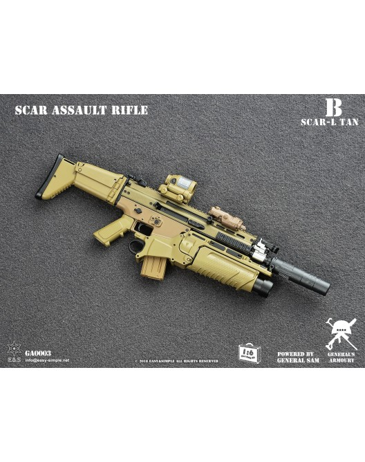 NEW PRODUCT: General's Armoury GA003 1/6 Scale SCAR Assault Rifle in 4 styles B-2-5211