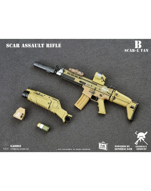 NEW PRODUCT: General's Armoury GA003 1/6 Scale SCAR Assault Rifle in 4 styles B-3-5211