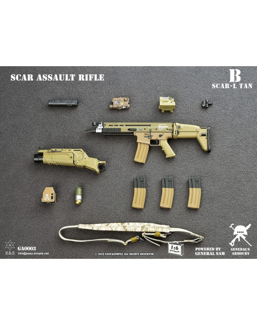 NEW PRODUCT: General's Armoury GA003 1/6 Scale SCAR Assault Rifle in 4 styles B-4-5211