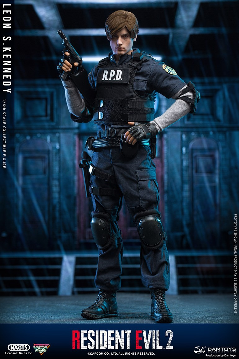 "Sci-Fi - NEW PRODUCT: NAUTS & DAMTOYS: 1/6 ""Resident Evil 2""-LEON S.KENNEDY/Lyon S. Kennedy remake #DMS030  B1954010"