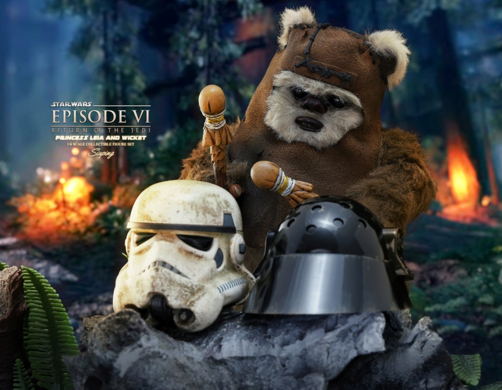 Endor Leia - NEW PRODUCT: HOT TOYS: STAR WARS: RETURN OF THE JEDI PRINCESS LEIA AND WICKET 1/6TH SCALE COLLECTIBLE FIGURES SET B4065710