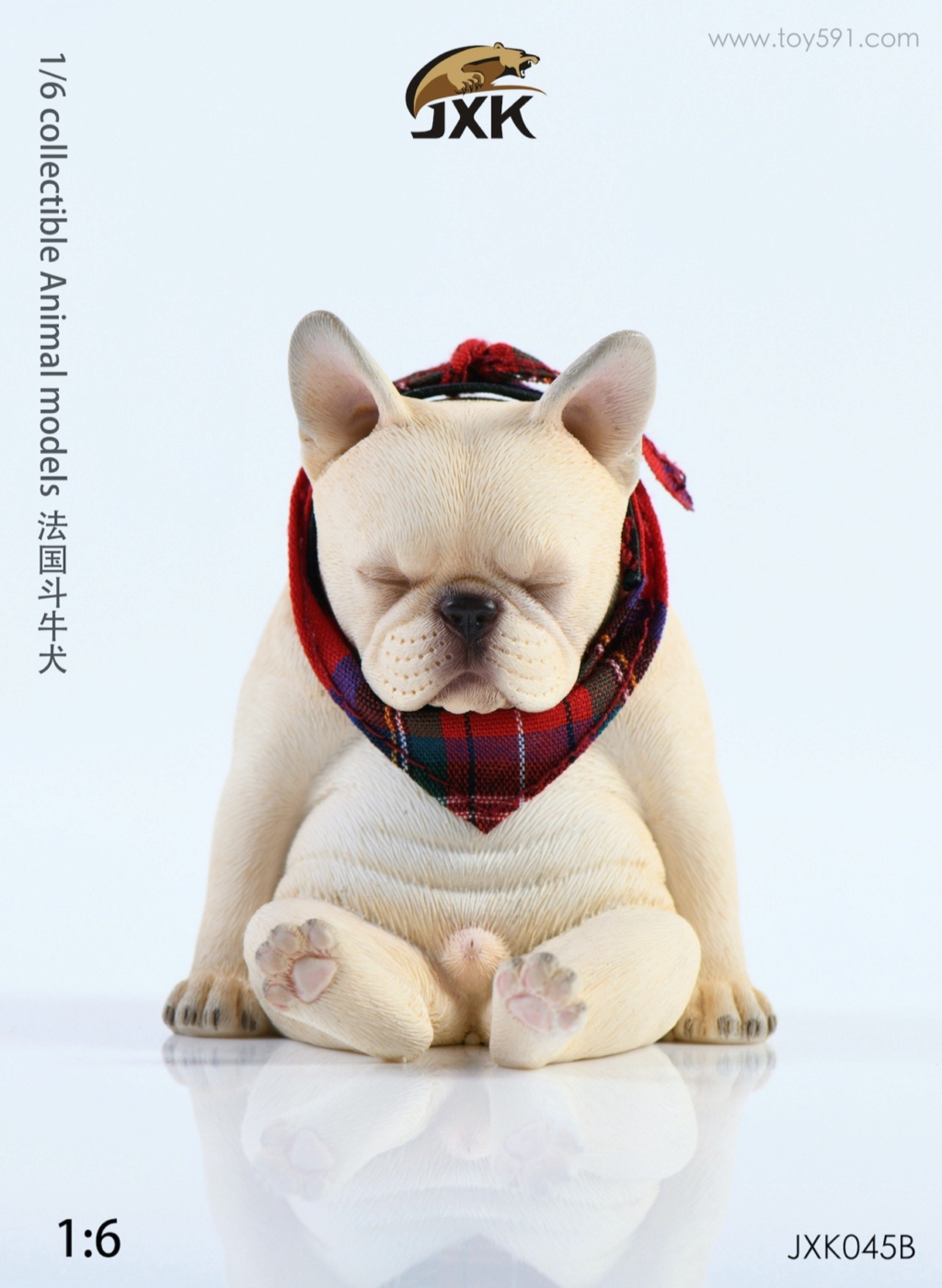 Dog - NEW PRODUCT: JXK 1/6 Decadent Dog JXK045 French Bulldog + Scarf B8d25310