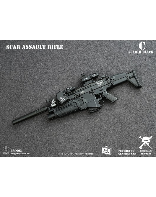NEW PRODUCT: General's Armoury GA003 1/6 Scale SCAR Assault Rifle in 4 styles C-1-5210