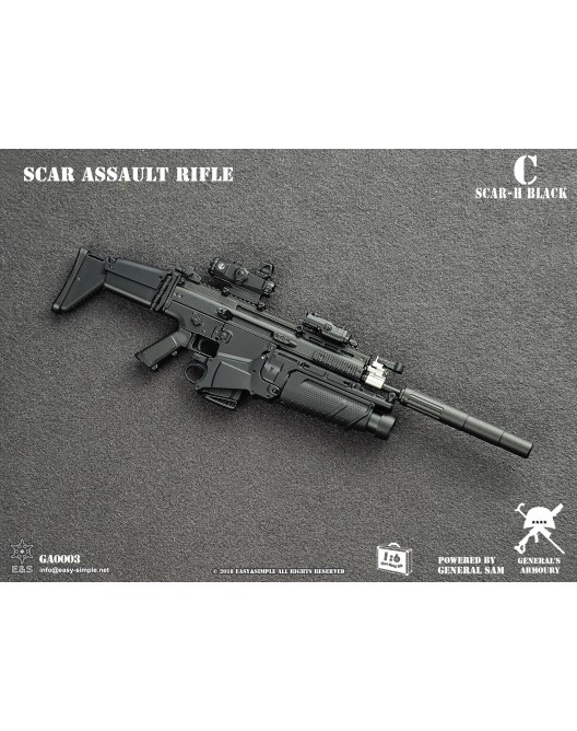 NEW PRODUCT: General's Armoury GA003 1/6 Scale SCAR Assault Rifle in 4 styles C-2-5210