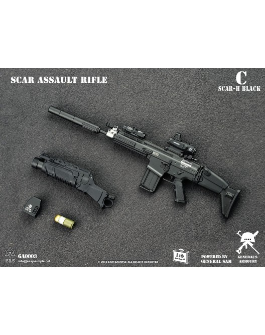 NEW PRODUCT: General's Armoury GA003 1/6 Scale SCAR Assault Rifle in 4 styles C-3-5210