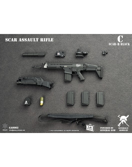 NEW PRODUCT: General's Armoury GA003 1/6 Scale SCAR Assault Rifle in 4 styles C-4-5210