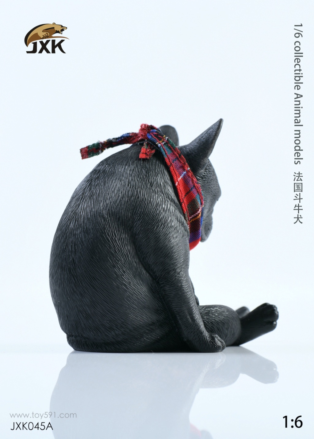 Dog - NEW PRODUCT: JXK 1/6 Decadent Dog JXK045 French Bulldog + Scarf C17a2510