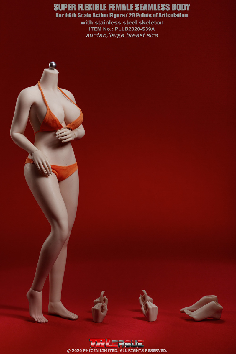 "body - NEW PRODUCT: TBLeague: 1/6 scale ""Chubby"" Female Body (2 styles, with or without a head sculpt) C4_56210"