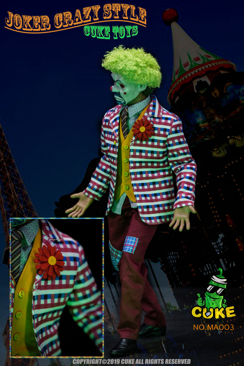 NEW PRODUCT: Cuke Toys: [CK-MA003] 1/6 Joker Crazy Style Clothing Set Ck-ma018